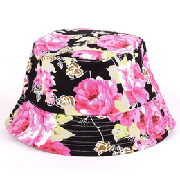 $enCountryForm.capitalKeyWord Australia - Summer Women Hat Floral Sun Hat Bob outdoor fishing Traveling floral fisherman panama cap chapeau cotton bucket boonie