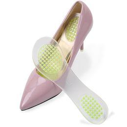 Half Gel Insole NZ - Gel partial shoe pads 3D particle non-slip insole women shoes sandals high heel insoles soft half yard pad