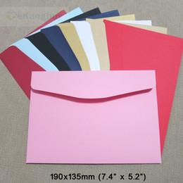 Toptan satış 50 adet 190x135mm Renk Zarflar Davetiye Hediye Zarf 120gsm Düz / Inci Kağıt Zarf