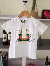 Ingrosso Confortevoli Shirts Bambini Estate T sveglia del gatto del modello Top neonate Ragazzi T-shirt per bambini Abbigliamento 5-16 anni