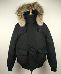 $enCountryForm.capitalKeyWord Canada - Thick Black Coat Men Down Jacket High quality Warm parka down garment winter outdoor puffer real raccoon fur Hoody outerwear
