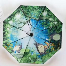 ab2914c72dc1d Anime Totoro Ghibli Long Umbrella Women Double Layers Cartoon Paraguas  Mujer Parapluie Women Regenschirm High Quality