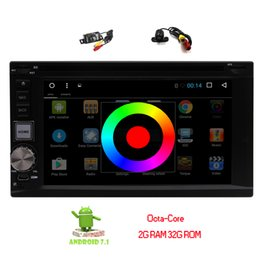 2din gps radio UK - Dual Camera 6.2'' Android 7.1 Car Radio Stereo Bluetooth 2G+32G GPS Navigation Double 2Din in Dash HeadUnit car DVD CD Player