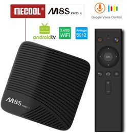 M8s Android Tv Boxes Australia - MECOOL M8S PRO L Android TV OS 1080P 3GB 32GB YouTube 4K TV Box with Voice Remotes Amlogic S912 KI 17.3 802.11ac WiFi