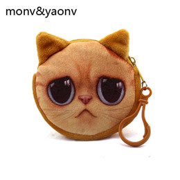 Dog Zipper Australia - New Cute 3d animal Face Zipper Case cat Coin Purse female Wallet Cartoon Dog Children Coin Wallet Ladies Makeup Storage Bag