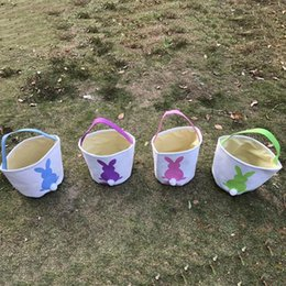 Wholesale baskets online easter baskets wholesale for sale online shopping easter rabbit basket easter bunny bags rabbit printed canvas tote bag egg candies baskets negle Image collections