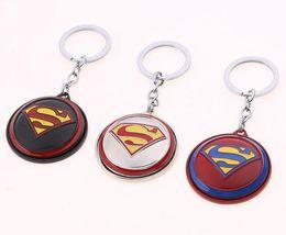 $enCountryForm.capitalKeyWord UK - Movie Superman Keychain Superhero S Logo metal Keyring For men Superman jewelry souvenir