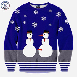 Character Sweatshirts For Boys NZ - 2017 Mr.1991INC Cartoon hoodies for men boy 3d sweatshirts funny print snowman lovers striped casual hoodies hombre sudadera top