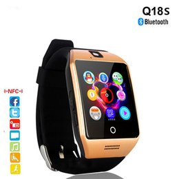 Bluetooth Smart Watch Sim Australia - New Smart Watch Q18S With Camera Bluetooth WristWatch SIM Card Smartwatch for Android Phones Support Multi Languages