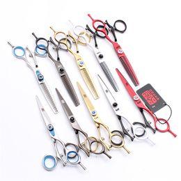 Hair scissors brands online shopping - 2Pcs JP C Kasho Brand Swivel Handle Cutting Thinning Scissors Hairdressing Salon Style Tools Professional Human Hair Scissors H9019
