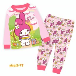 Wholesale Baby Girls Melody And Cake Pyjamas Sets Kids Cartoon Pijama Infantil Spring Pajamas Sets For Y