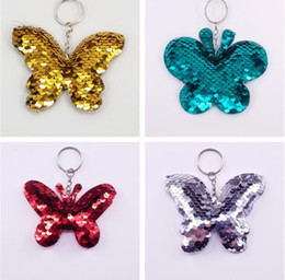 Butterfly key online shopping - Butterfly Keychain Glitter Sequins Key Chain Gift For Women Girl Cartoon Key Ring Women Bag Pendant Accessories Animal Key Chains KKA6197