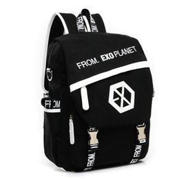 f13a6ee576 MSMO 2017 New Kpop EXO Canvas Backpack Sacks Women Men Student School Bags  For Girl boy Casual Travel EXO bags