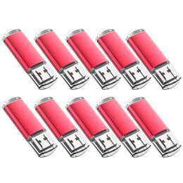 Thumb Flash Drive Australia - Red Bulk 200PCS 32GB USB 2.0 Flash Drive Rectangle Thumb Pen Drives Flash Memory Stick Storage for Computer Laptop Tablet Macbook U Disk