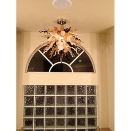 $enCountryForm.capitalKeyWord Australia - 2019 New Amber Murano Blown Glass Ceiling Light Italy Crystal Chandelier with LED Bulbs Free Shipping