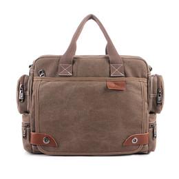 $enCountryForm.capitalKeyWord Canada - Canvas Shoulder Bag Vintage Crossbody Bag Canvas Shoulder Bags Men Messenger Bag Men High Quality Handbag Tote Briefcase