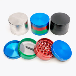 New electric online shopping - New Black Silver Colorful Herb grinder mm layer electric metal ginder Zicn alloy Diameter Cheap pepper grinders for dry herb
