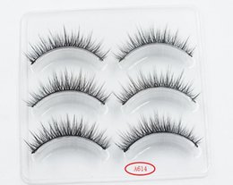 $enCountryForm.capitalKeyWord Australia - 2018 New Arrival 3 Pairs 3D Natural Stitch Cross Messy False Eyelashes long makeup 3D Lashes Fake Eye Lashes Extension Make Up Beauty