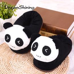 $enCountryForm.capitalKeyWord Canada - DreamShining New Cute Cartoon Bag With Coon Slippers Men Women Couple Warm Home slippers Wolf   Cat   Panda   Rabbit   Monkey