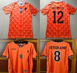 12 Van Basten Retro Soccer Jersey 88 Netherlands Jersey 1988  10 Gullit 98  Holland  8 Bergkamp  10 Seedorf 1998 Voetbal Football Shirts c9af9c169