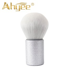 pretty hair for Australia - Ahyee Pretty Kabuki Brush Extremely soft Makeup Brushes For Powder Products KBK005 Blink Plastic Handle Synthetic Hair Beauty
