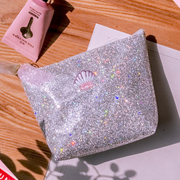 $enCountryForm.capitalKeyWord Canada - Sequins Shell Cosmetic Bag Lady Glitter Beauty Accessories Money Pouch Girls Knitting Mini Purse Handbag Stationary Pencil Case