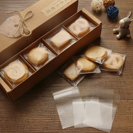 Discount biscuit snack bags - 100pcs lot 10cm*10cm+3cm Plain Scrub Plastic Cookie Bag,Heat Seal Cellophane For Biscuits Snack Baking Bakery Gift Packa
