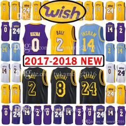 2ed6e520e 2018 New Men s Youth Los Angeles 2 Lonzo Ball 0 Kyle Kuzma Jersey Lakers  stitching 14 Brandon Ingram 24 8 Kobe Bryant The City Jerseys