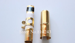 mouthpiece sizes NZ - YANAGISAWA Metal Gold Plated Surface Mouthpiece For Soprano Saxophone Size 5-9 Brand Quality Musical Instruments Accessories Free Shipping