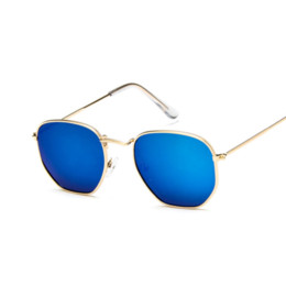 sun glasses NZ - Vintage Blue Lenses Square Sunglasses Women Shades Silver Frame Clear Sun Glasses Female Green Ladies Glass AABD04
