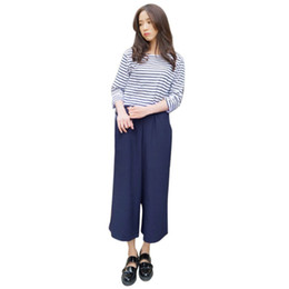 e7643b51ebf4 Pants Women 2019 Summer Nine Pants Casual High Waist Elastic Wide Leg Pants  Solid Colors Fashion Trousers Plus Size 5XL