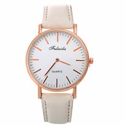 Second hand wholeSale online shopping - mens classic no second hand fashion unisex women students ladies leather watch dress quartz wrist watches for men