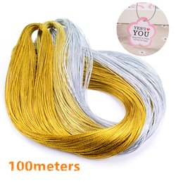 Pack Supplies Australia - 100meters High Quality Gold Silver Rope Twine Ribbon Wedding Gift Packing Decoration Rope Handmade Craft String Party Supply