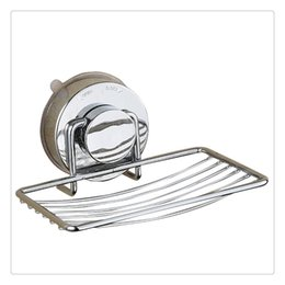 Wholesale Soap Dishes Stainless Steel Soap Holder Basket with Strong Suction Cup Wall Mount Bathroom Accessories Simple installation