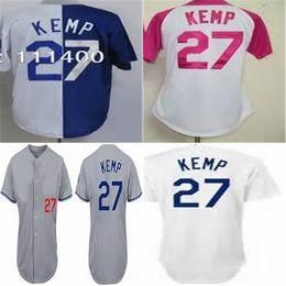 2016 New 2015 Los angeles 27 Matt Kemp Mens Womens Kids Baseball Jerseys  New Design white pink blue grey Baseball jerseys d0859fd9f1