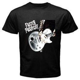 $enCountryForm.capitalKeyWord NZ - New FASTER PUSSYCAT Guitar Logo Rock Legend Men's Black T-Shirt Size S-3XL