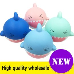 shark phone NZ - Squishy huge shark quality Jumbo Slow Rising Soft Oversize Phone Squeeze toys Pendant Anti Stress Kid Cartoon Decompression Toy