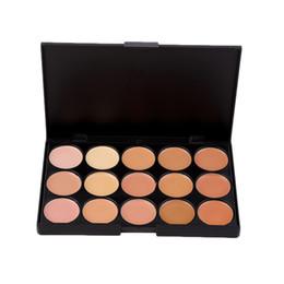 Green Makeup Palette UK - 5Pcs Professional Makeup tool set 15 Color Face Concealer Eyeshadow Palette + Wood Handle Brush kit Make up Set