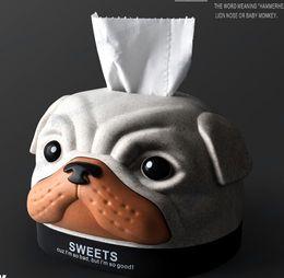 $enCountryForm.capitalKeyWord NZ - Fashion Cartoon Dog Head Shape Tissue Boxes Case paper towel tube Home Car Tissue Case Box Container Towel Napkin PapersBox