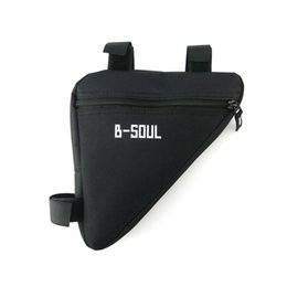yellow bicycle road saddle 2019 - Super sell-B-SOUL 4 Color Outdoor Triangle-Shape Waterproof Cycling Bag Bicycle Saddle Bike Bags Road Rear Bicycle Acces