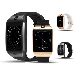 $enCountryForm.capitalKeyWord Australia - Q18 Smart Watch Bluetooth Smartwatch Phone with Camera TF SIM Card Slot for Android Samsung Good Quality With Package