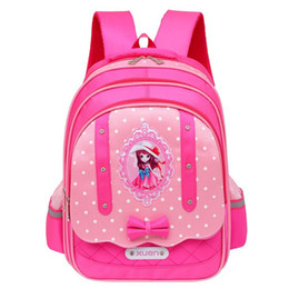 Kids School Bags Orthopedic Backpack Schoolbag Waterproof Nylon School Bags  For Girls Children Backpacks Escolar P853 6ea3faba2f
