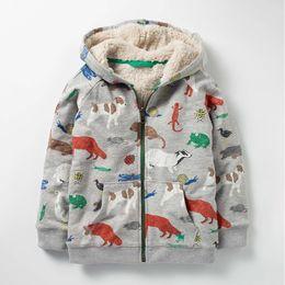 Discount cartoon deck - Boy Cartoon Dinosaur Coat Children's wear Winter New style Cotton Clothes Coat Double-deck Simier Zipper jacket 2-7