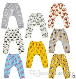 Discount fox tights baby - Baby Leggings Pants Animal Printed Harem Pants Summer Baby Casual Trousers Cotton Loose PP Pants Fox Penguin Tights Kids