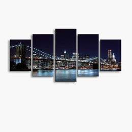 Art Canvas Prints Australia - 5 pieces high-definition print Bridge canvas oil painting poster and wall art living room picture PF5-243