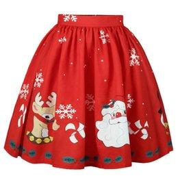 ladies winter midi dresses 2019 - Christmas Midi Dress Floral Dress A-Line  Snowflake Printed 0b4ce3ee7bf4