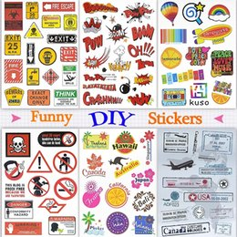 $enCountryForm.capitalKeyWord NZ - Funny Doodle Stickers Decals Toys for Kids Teens Adults to DIY Home Laptop Tablet Luggage Guitar Scrapbook Skateboard Water Bottle Bicycle