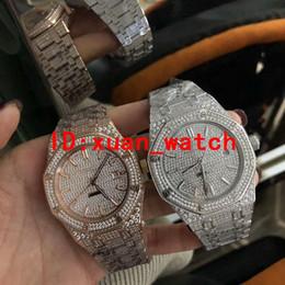a70b8f1f572e Reloj de calendario de diamantes de marca de lujo de los hombres completos  fabricantes de la serie de diamantes suministro automático de espejo de  zafiro ...