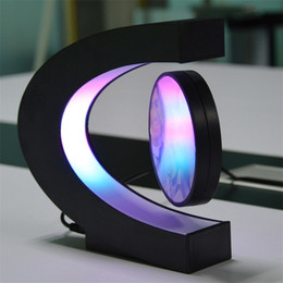 Shape photo frameS online shopping - Acrylic Electronic Magnetic Photo Frame C Shape Levitation Floating Led Lights Novelty Gift Modern Pictures Frames Home Decor hf jj