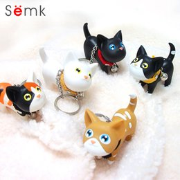 key ring phones Canada - SEMK Cat Key chains Black Kitty kitten Keyrings lovers mobile phone car key pendant, fashion key rings cartoon keychain Promotion gift